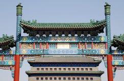 北京中国门qianmen方形天安门 免版税库存照片