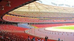 北京全国奥林匹克体育场/鸟s巢 免版税库存照片