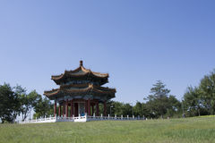 北京公园亭子在亚洲 库存照片