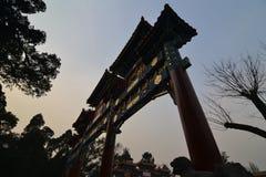 北京公园门 库存照片