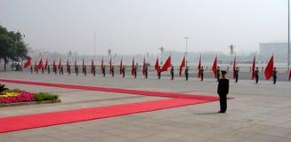 北京军人游行 库存图片