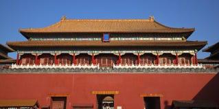 北京城市禁止的门gugong宫殿 库存照片