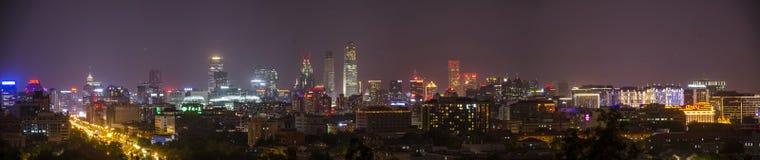 北京夜 免版税库存图片