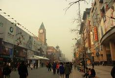 北京大气污染 免版税库存图片