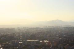北京大气污染 免版税库存照片