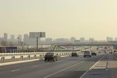 北京大气污染 图库摄影