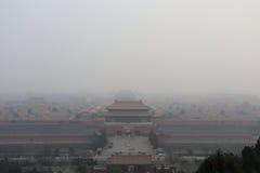 北京大气污染 免版税图库摄影