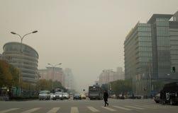 北京大气污染3 免版税库存照片