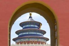 北京天堂寺庙 免版税图库摄影
