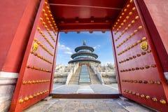 北京天堂寺庙 库存图片