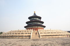 北京天堂tian棕褐色的寺庙 库存图片