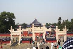 北京天堂tian棕褐色的寺庙 免版税图库摄影