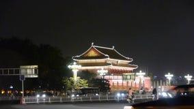 北京天安门广场夜场面,奔忙长安街,繁忙的交通 股票录像