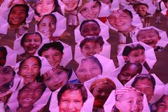 世界的面孔 免版税库存照片