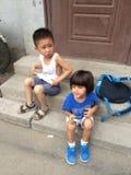 北京孩子 库存图片
