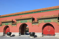 北京宫殿庭院设计  免版税库存照片
