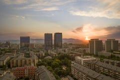 北京市不可思议的日落10 免版税库存图片