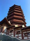 北京庭院商展,中国古典建筑风格 库存图片