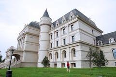 北京庭院商展,欧洲庭院 城堡 免版税库存图片