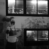 北京当局促进烟雾警报红色水平 免版税库存图片