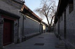 北京恭敬的Wang fu庭院 库存图片