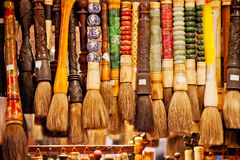 北京掠过中国五颜六色的墨水纪念品 免版税库存照片