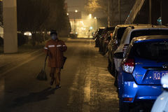 北京政府发射了红色警戒 免版税库存图片