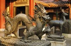 北京故宫宫殿龙 库存图片