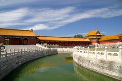 北京故宫建筑学 免版税库存图片