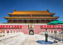 北京方形天安门 免版税库存图片
