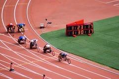 北京比赛马拉松人paralympic s 免版税库存图片