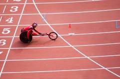 北京比赛马拉松人paralympic s 免版税库存照片