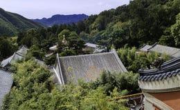 北京潭则寺庙老大厦  库存照片