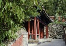 北京潭则寺庙老大厦  免版税库存照片