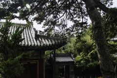 北京潭则寺庙风景  免版税库存照片