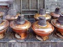 北京热的罐 库存照片