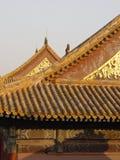 北京瓷发光的屋顶 免版税库存图片