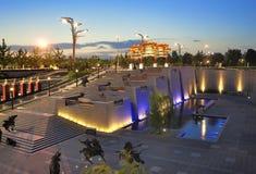 北京瓷晚上奥林匹克公园场面 库存照片