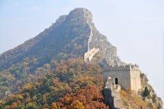 北京瓷极大的simatai墙壁 库存图片