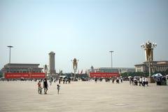 北京瓷正方形天安门 免版税库存图片