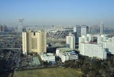 北京瓷都市风景国民体育场 免版税库存照片