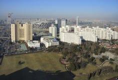 北京瓷都市风景国民体育场 免版税库存图片
