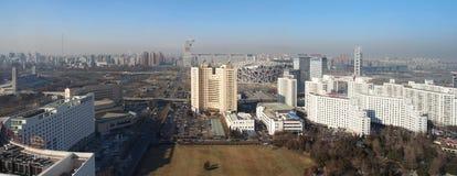 北京瓷都市风景国民体育场 库存图片