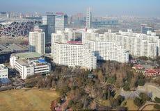 北京瓷都市风景国民体育场 图库摄影