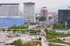 北京瓷都市风景国民体育场 免版税图库摄影