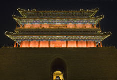 北京瓷门qianmen方形天安门 免版税图库摄影