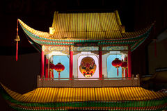 北京瓷陈列灯笼 库存照片