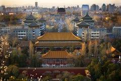 北京瓷鼓jinshang公园塔 图库摄影
