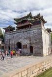 北京瓷 夏天故宫 与塔的塔 库存照片