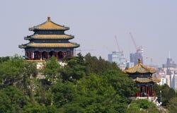 北京瓷jingshan公园亭子 库存图片